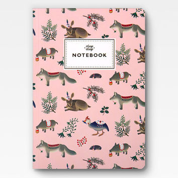 Forest Animals Notebook - Pink -