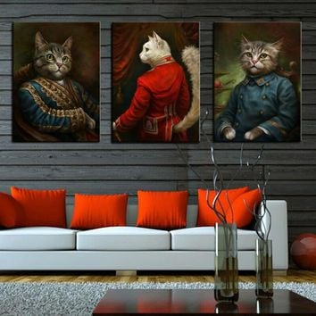 Canvas Wall Art: Minimalist Cat Wall Art Prints