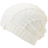 Empyre Girl Polaris White Crochet Beanie