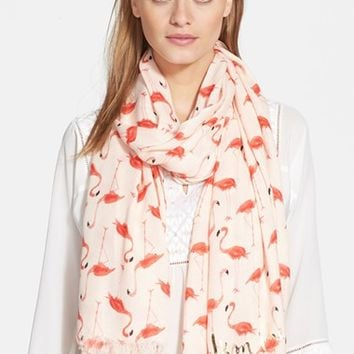 Women's kate spade new york 'flamingo' scarf - Pink