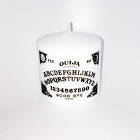 Small White Ouija Pillar Candle