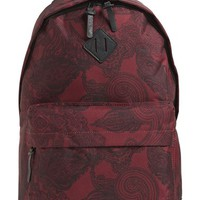 Men's Topman Paisley Print Backpack - Burgundy