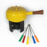 Vintage Yellow Fondue Pot made by Dansk Designs by ModernFiction