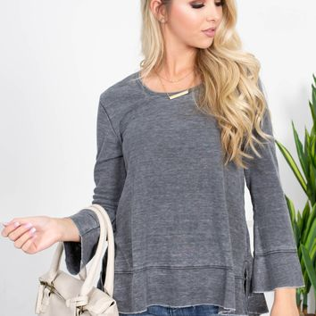 Tink Frayed Thermal Top | Colors