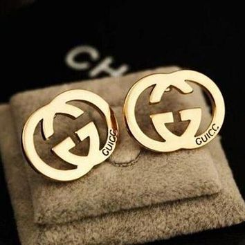 GUCCI Fashion Women Simple Logo Letter Earring+Best Gift I