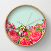 BOLDEST FLORAL Wall Clock by Allyson Johnson
