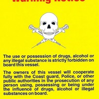 Poster - Cabin Size Drugs and Alcohol Warning Notice