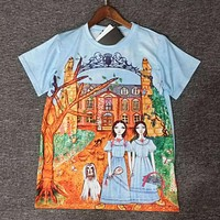 GUCCI Woman Fashion Print Tunic Shirt Top Blouse