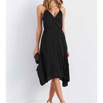 Enza Costa Strappy Wrap Dress