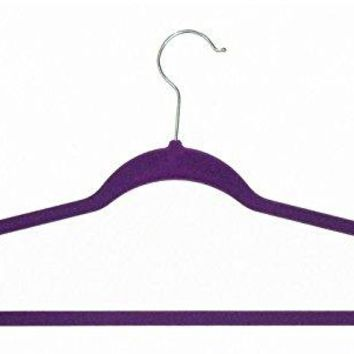 Ben&Jonah Collection Velvet Anti-Slip Hangers - Purple