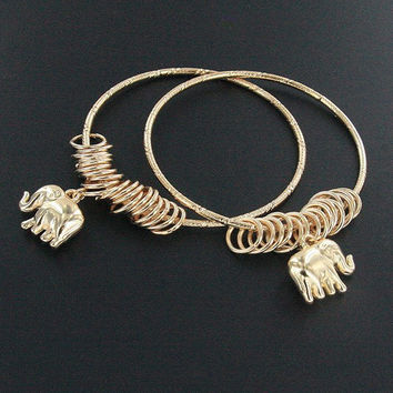 Set of 2 Elephant Charm Bracelets