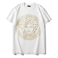 Versace hot seller of fashion portraits with large print matching t-shirts White