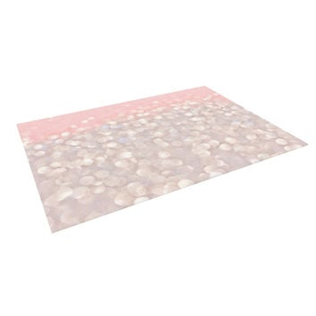 "Debbra Obertanec ""Magical"" Pink Glitter Indoor / Outdoor Floor Mat"