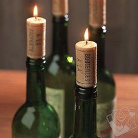 Wine Cork Candles (Set of 4) - Wine Enthusiast
