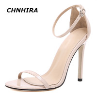Fashion Classics Brand name ZA R Peep toe Buckle trap High Heels Sandals Shoes Woman Black White Red Wedding Shoes Factory #CH68