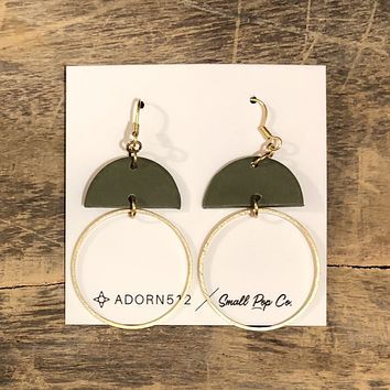 Adorn 512 - Kennedy Earrings - Spring Green