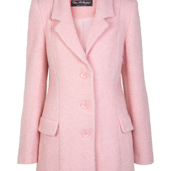Pink Wool Boyfriend Coat - Miss Selfridge