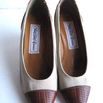 Vintage Brown Spectator Shoes Saks Fifth Avenue Size 5 B