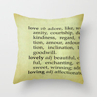 What Is Love? Throw Pillow by Ally Coxon | Society6