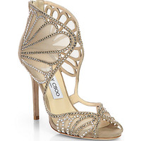 Kole Crystallized Suede & Mesh Sandals