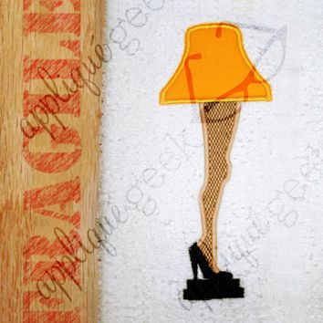 Leg Lamp - A Christmas Story Inspired Applique Embroidery Design - Appliqué Geek