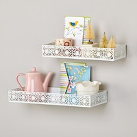 White Chantilly Wall Shelves (Set of 2) in Shelves & Hooks | The Land of Nod