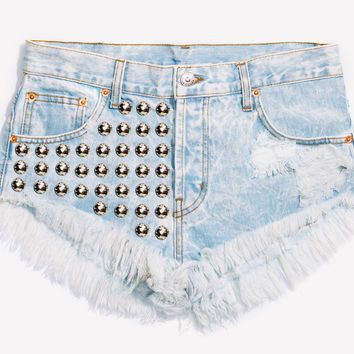 Treasure Stoner Studded Babe Shorts