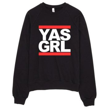 YAS GRL Raglan sweater