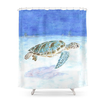 Society6 Sea Turtle Shower Curtains