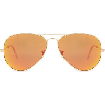 RAY-BAN - RB3025 gold-toned aviator sunglasses | Selfridges.com