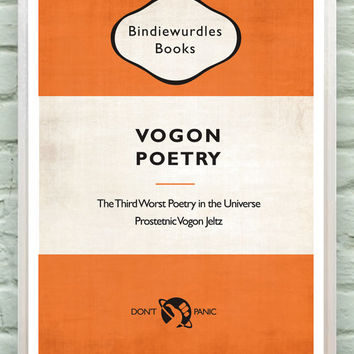 Hitchhiker's Guide to the Galaxy - Vogon Poetry book - poster, print, art