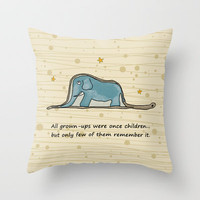 The Little Prince - Elephant inside Boa Constrictor Throw Pillow by casehunter