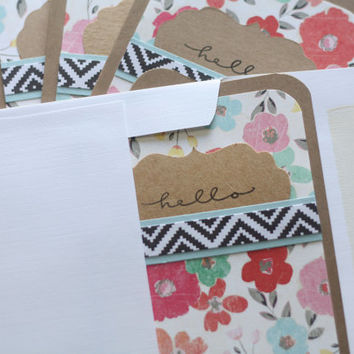 Hello Note Cards - Bold Florals