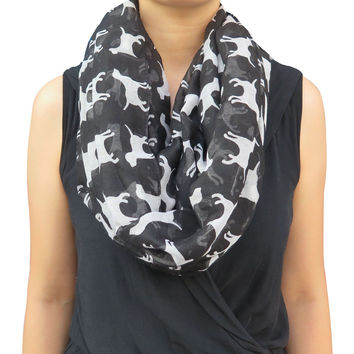 Labrador Retriever Dog Pet Animal Print Infinity Loop Scarf for Women Snood Lady Gift Winter Spring Accessories