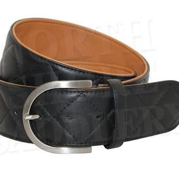 TS Quilted C-2 Black/Sandal Belt