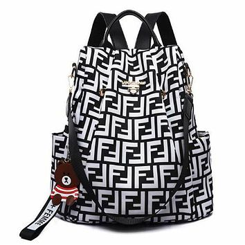 FENDI New Women Men Casual Shoulder Bookbag School Bag Backpack