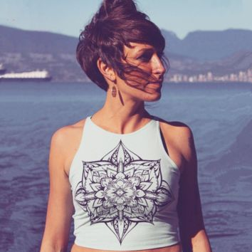 Retro Print Crop Top