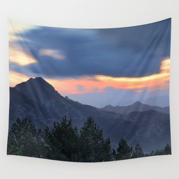 Dream sunset. At the mountains... Wall Tapestry by Guido Montañés