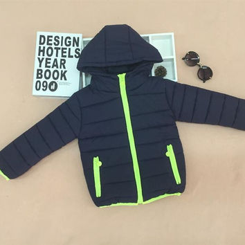Free shipping the new 2016 hooded winter jacket coat 6 kinds of color in the fall and winter of children's coat