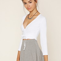 Self-Ti Surplice Crop Top | Forever 21 - 2000169731