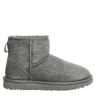 UGG Australia Classic Mini II Grey Suede - Ankle Boots