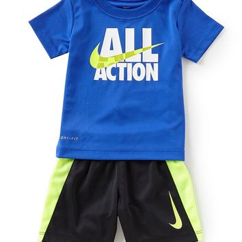 Nike Baby Boy 12-24 Months All Actions Short Sleeve Tee & Shorts Set | Dillards