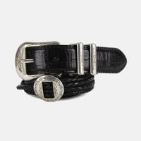 Take It Easy Braided Concho Leather Belt