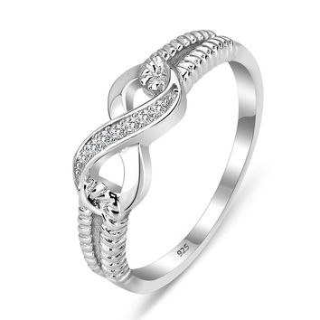 Eternity Ring Engagement Rings Sterling Silver 925 Rings For Women Silver Wedding Lady Infinity Jewelry (RI101804)