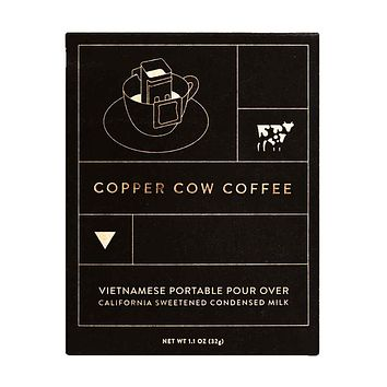 Copper Cow Coffee - Vietnamese Single-Use Portable Pour Over, 3 oz.