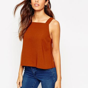 ASOS Square Neck Shell Top at asos.com