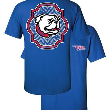 Southern Couture Louisiana Tech Bulldogs Louisiana Chevron Girlie Bright T Shirt