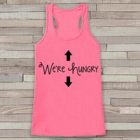Pregnancy Announcement Tank - Simple Pregnancy Shirt - We're Hungry Tank - Pink Tank Top - Pregnancy Announcement Shirt - New Mom