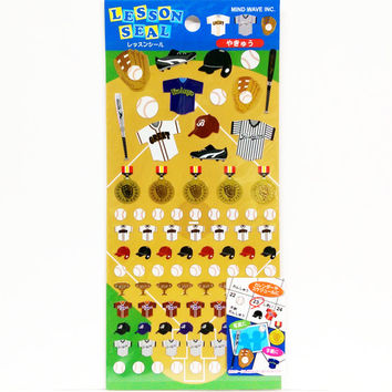Baseball Stickers Shiny Exercise Schedule Sticker School Time Planner Diary Stickers DIY Album Scrapbook Deco