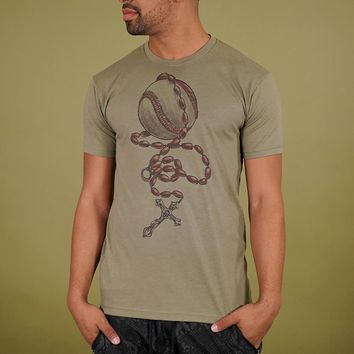 Baseball Rosary Olive Light Tri-Blend T-Shirt